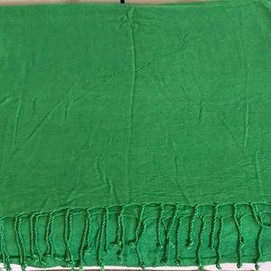 PASHMINA emerald green soft cotton blend